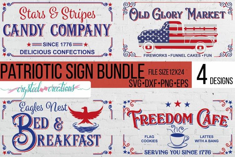 Patriotic Sign Bundle SVG, DXF, PNG, EPS 12x24
