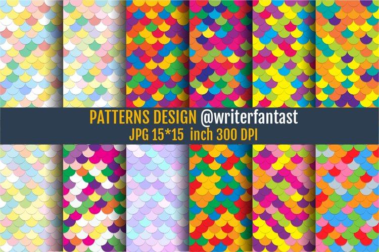 Mermaid scales Patterns, Mermaid scales textures