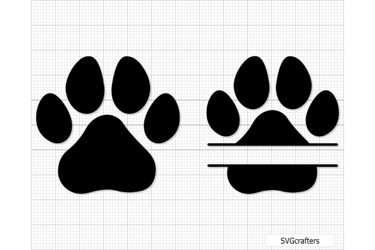Paw Print svg, dog paw print svg, dog paw svg, paw svg example image 1