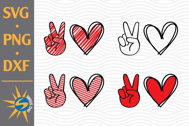 Peace Love SVG, PNG, DXF Digital Files Include