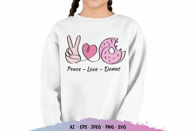 Peace Love Donut SVG