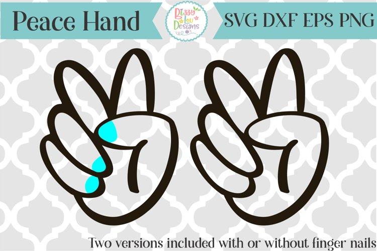Peace Hand SVG
