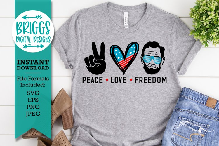 4th of July SVG   Peace Love Freedom, Independence Day SVG