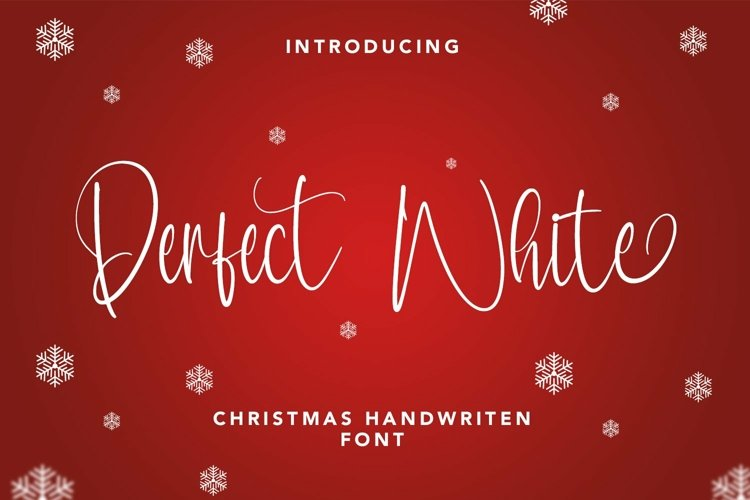 Web Font Perfect White - Christmas Handwritten Font example image 1