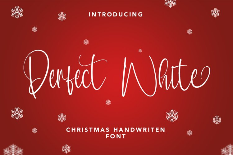 Perfect White - Christmas Handwritten Font example image 1