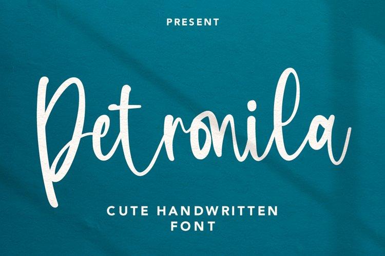 Petronila - Handwritten Font example image 1