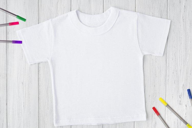 Back to school mockup, white T-shirt