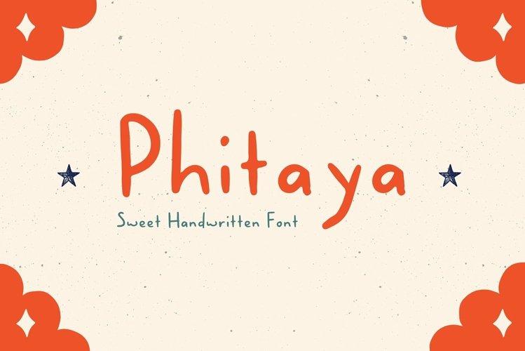 Phitaya - Sweet Handwritten Font example image 1