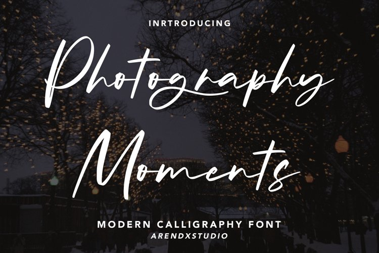 Photography Moments - Modern Calligraphy Font example image 1
