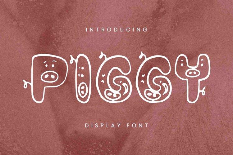 Web Font Piggy Font example image 1