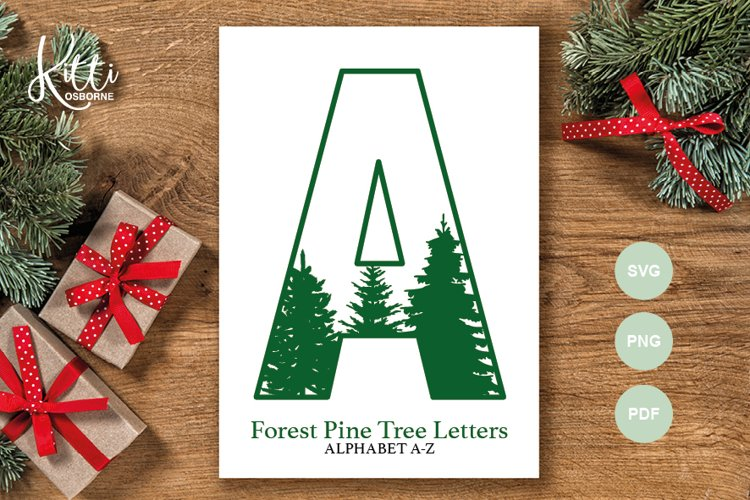 Forest Pine Tree Alphabet Letters
