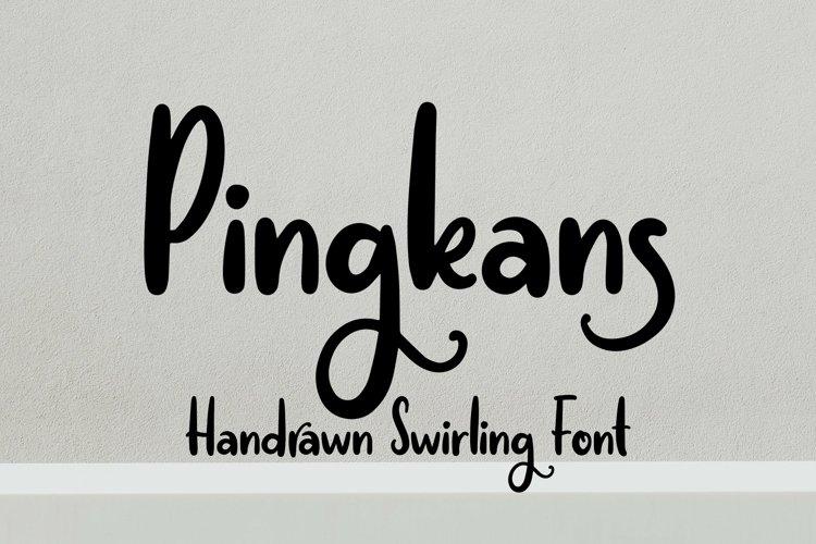 Web Font Pingkans - Handrawn Swirling Font example image 1