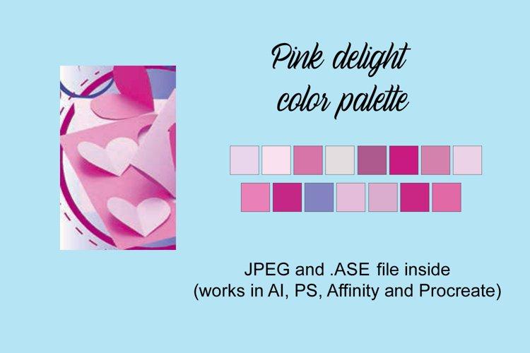Pink delight color palette