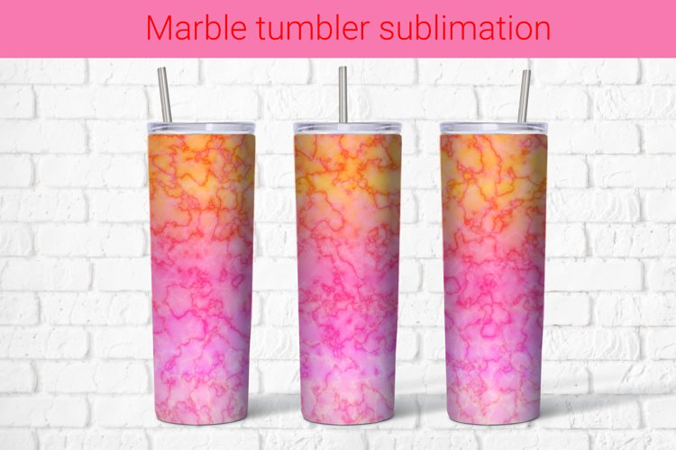 Abstract pink marble sublimation tumbler