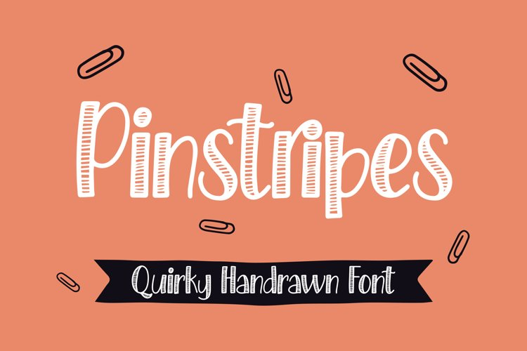 Pinstripes - Quirky Handrawn Font example image 1