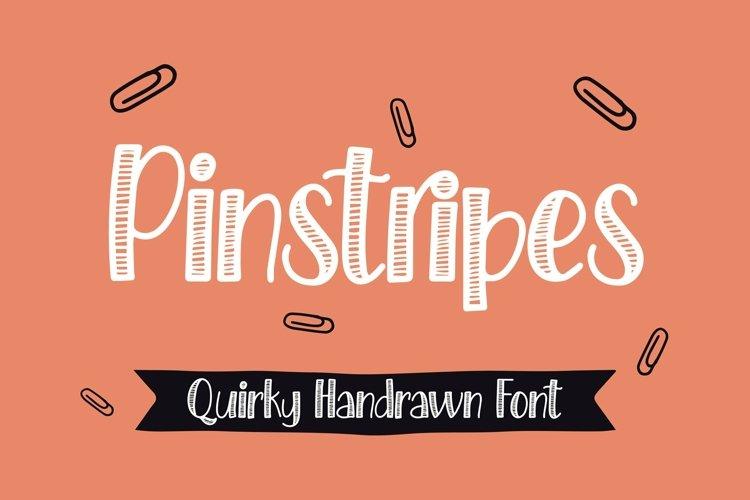 Web Font Pinstripes - Quirky Handrawn Font