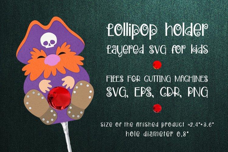 Pirate Lollipop Holder template SVG