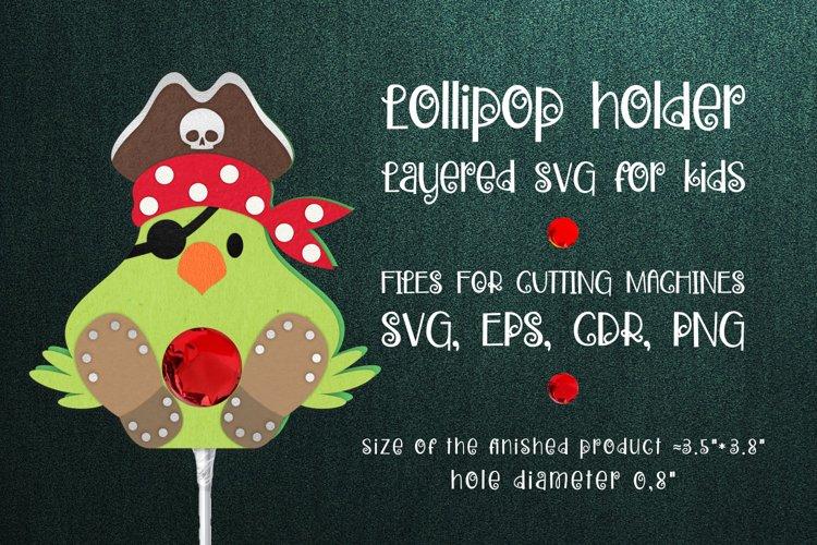 Pirate Parrot Lollipop Holder template SVG