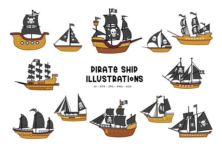 Pirate Ship Illustrations