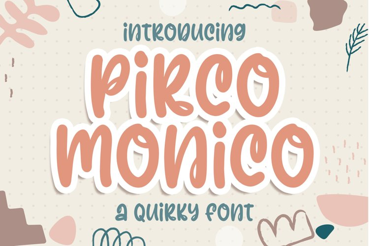 Pirco Monico -Playful Quirky Font example image 1