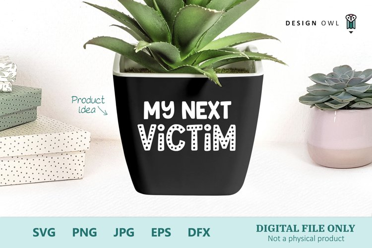 Plant Pot SVG file - My Next Victim
