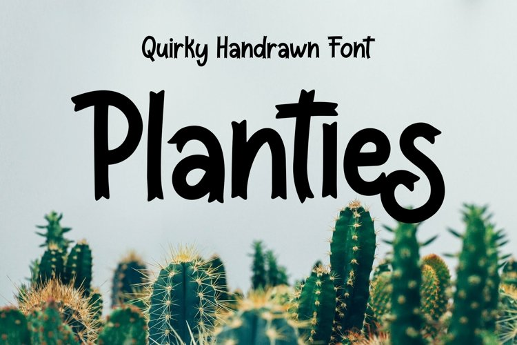 Web Font Planties - Quirky Handrawn Font