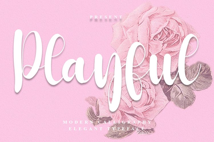 Playful - Modern Calligraphy Font example image 1