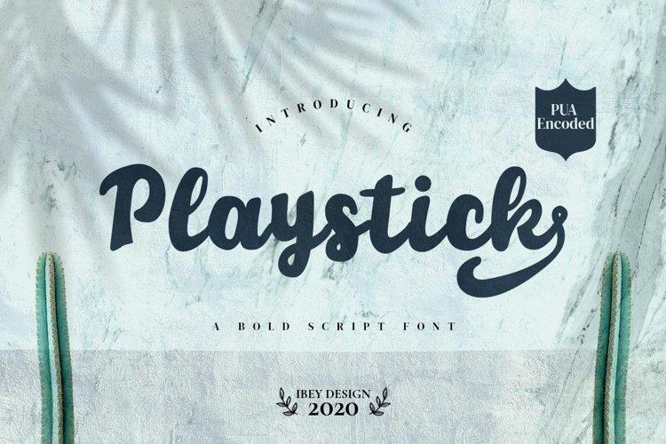Playstick - Bold Script Font example image 1