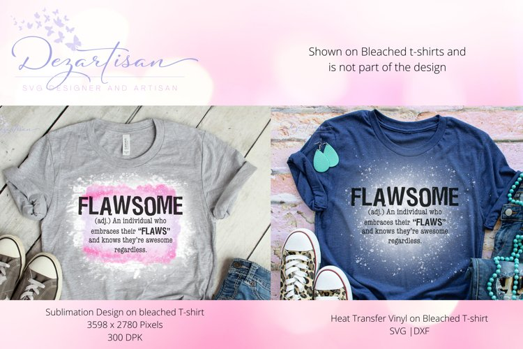 Flawsome Sublimation and SVG Cut File for Cricut and Silhouette