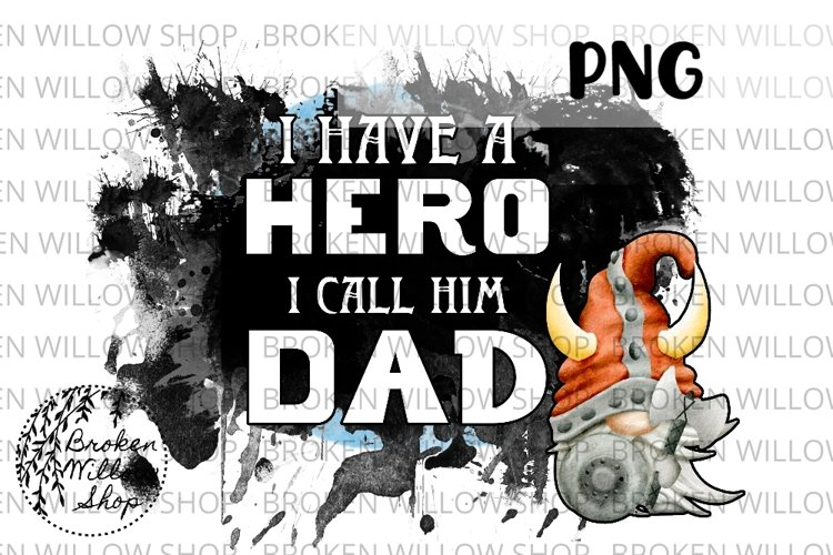 Fathers Day Dad Hero Gnomes Sublimation PNG File Instant Do