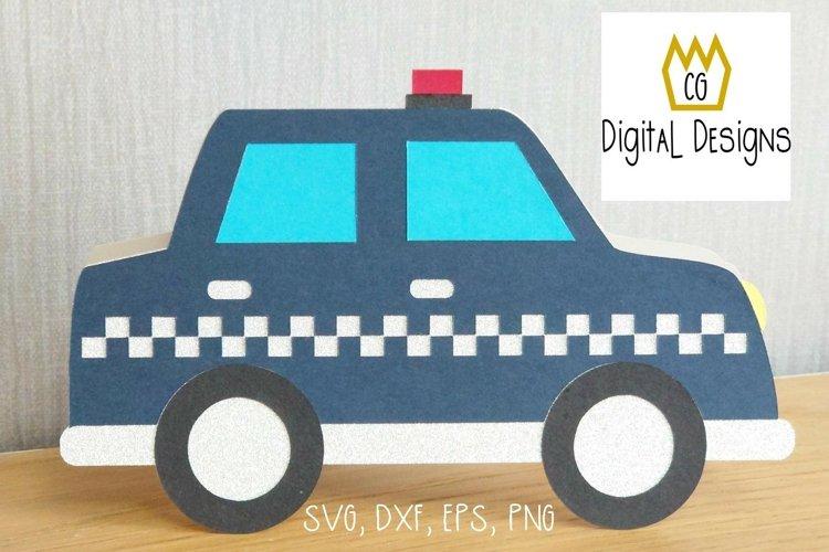 Police Car Card - SVG