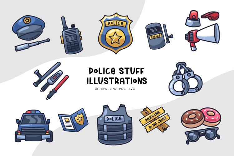 Police Stuff Illustrations