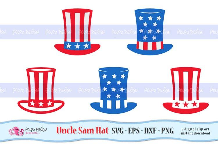 Uncle Sam Hat SVG, Eps, Dxf, Png.