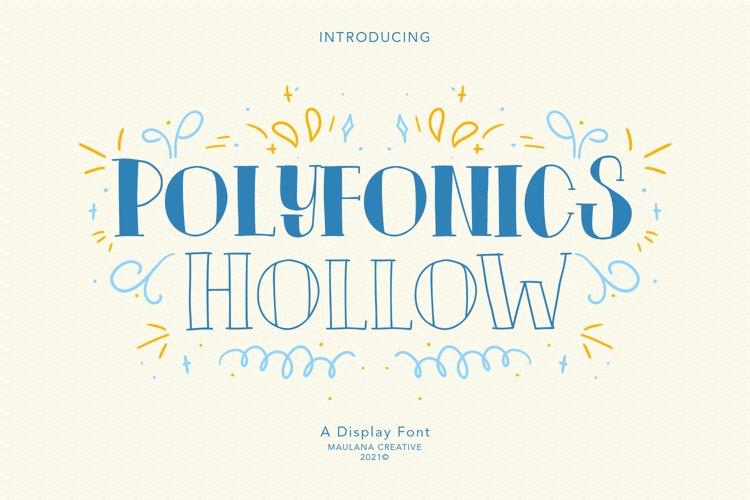 Polyfonics Display Font example image 1