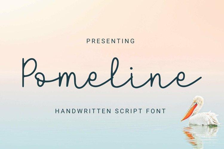 Web Font Pomeline - Script Font example image 1