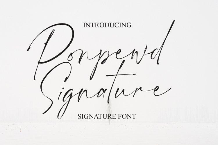 Ponpewd Signature Script Brush Font example image 1