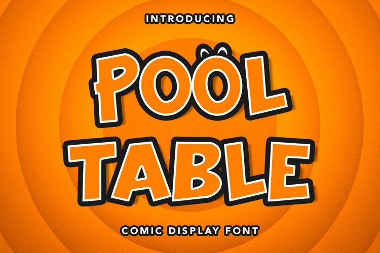 Pool Table - Comic Display Font example image 1