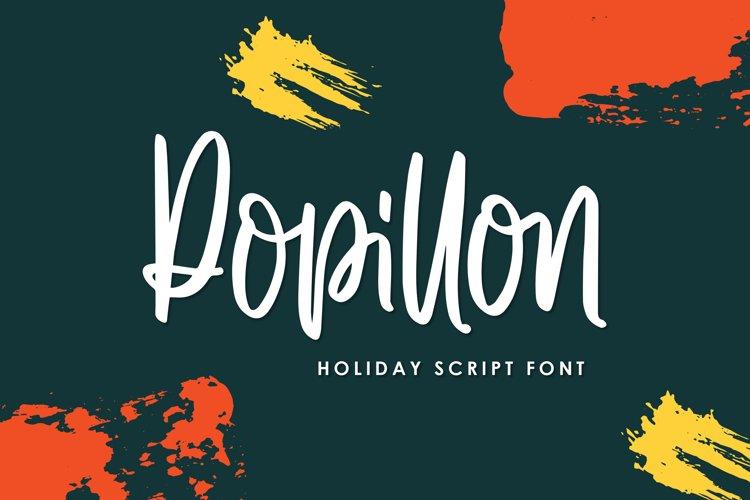 Popillon - Holiday Script Font example image 1