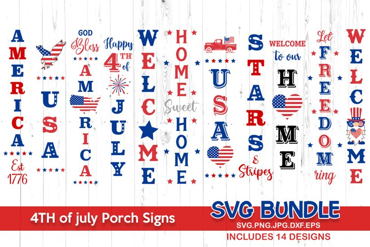 4th of july svg bundle, 4th of july porch sign
