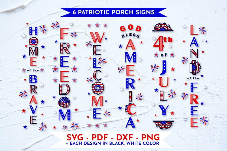 Patriotic porch sign svg Welcome, 4th of july