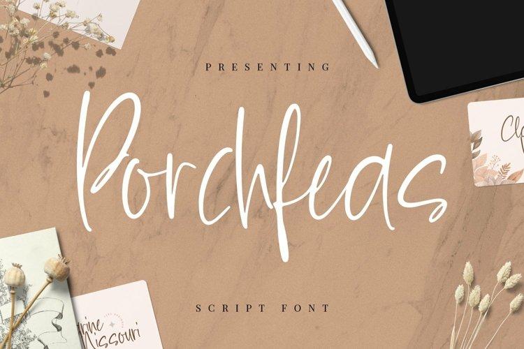 Web Font Porchfeas