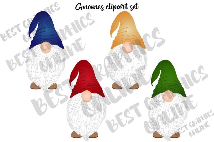 Gnomes Clipart Set, Cute Garden Gnomes Clip Art