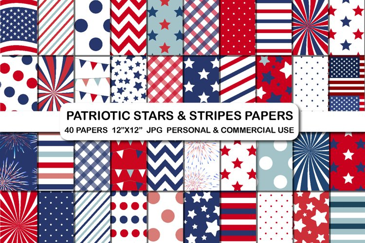 4th of July USA Patriotic Independence Day Background Papers