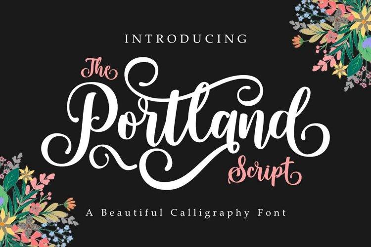Portland Script   A Beautiful Calligraphy Font example image 1