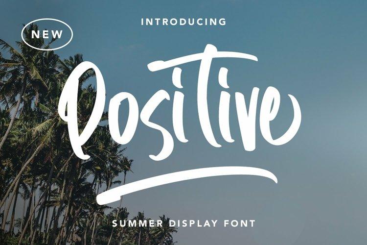 Web Font Positive - Summer Display Font example image 1