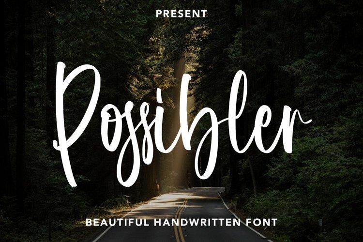 Web Font Possibler - Handwritten Font