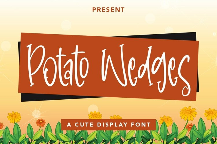 Web Font PotatoWedges - Cute Display Font example image 1