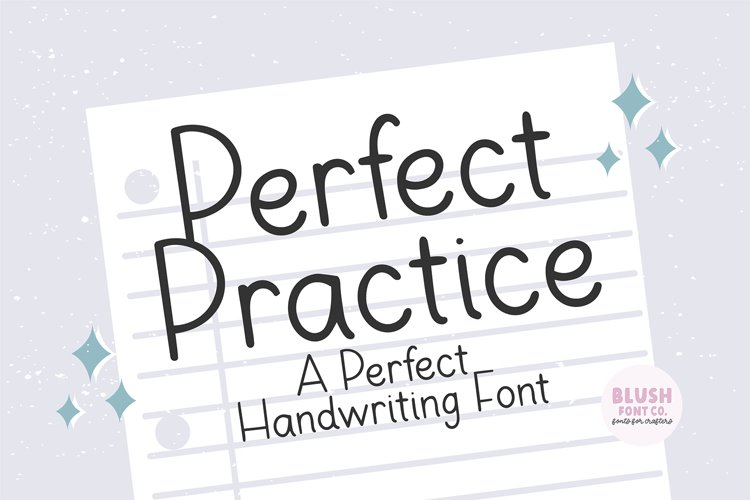PERFECT PRACTICE Perfect Handwriting Font example image 1