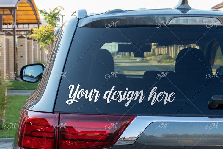 Rear Window Car Photo Mockup JPEG, PSD Smart