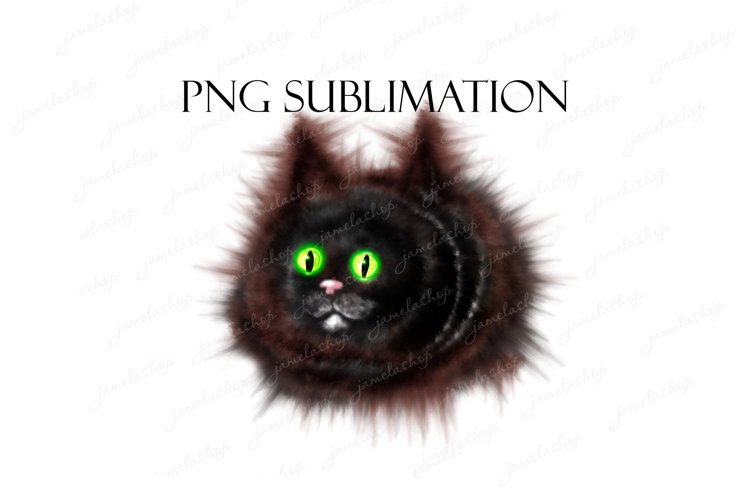 Funny cat clipart, cute animal PNG image for sublimation. example image 1